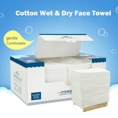 Cotton disposable wet and dry Lazy Cleansing Towel Face Wipes