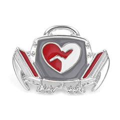 Defibrillator Brooch Enamel Lapel Pins Medical Students