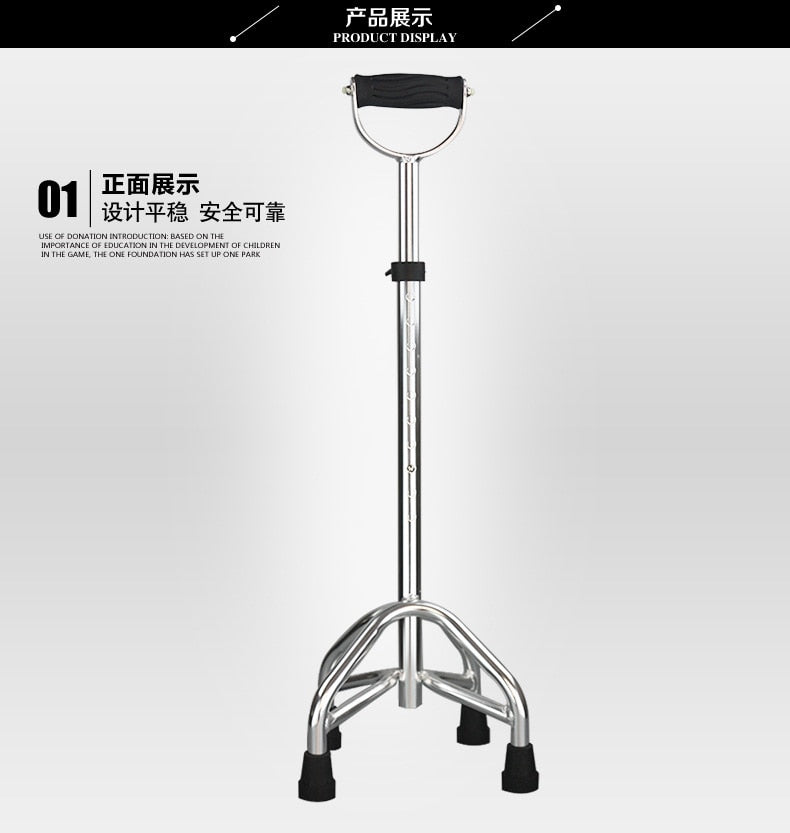 Aluminum Alloy Quadropods Telescopic Crutch