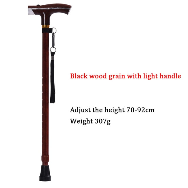 High Quality old man telescopic crutches with light