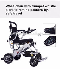 Adjustable portable reclining electric wheelchair
