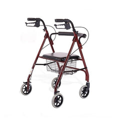 Rollator shopping walker lightweight outdoor 4 wheels folding with storage basket