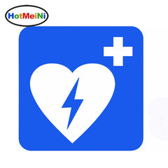 First Aid Defibrillator Car Sticker 15*15 cm