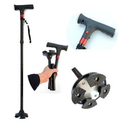 Smart Hand Crutch Cane with Light and Folding
