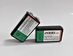 2pcs 9v 2000mAh Ni-MH Rechargeable 9 Volt NiMH Battery