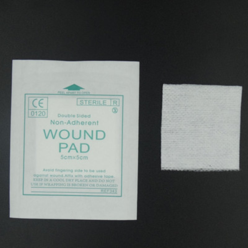 50 pcs/lot gauze pad 100% Cotton first aid wound dressing sterile medical gauze pad