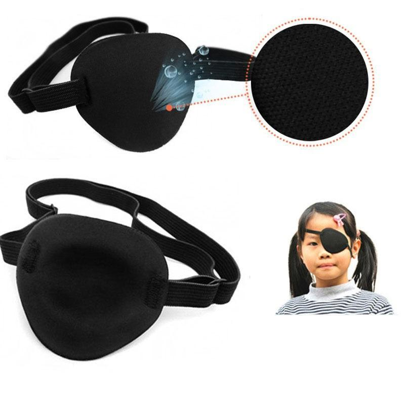 Concave Eye Patch Groove Washable Eyeshades Adjustable Strap