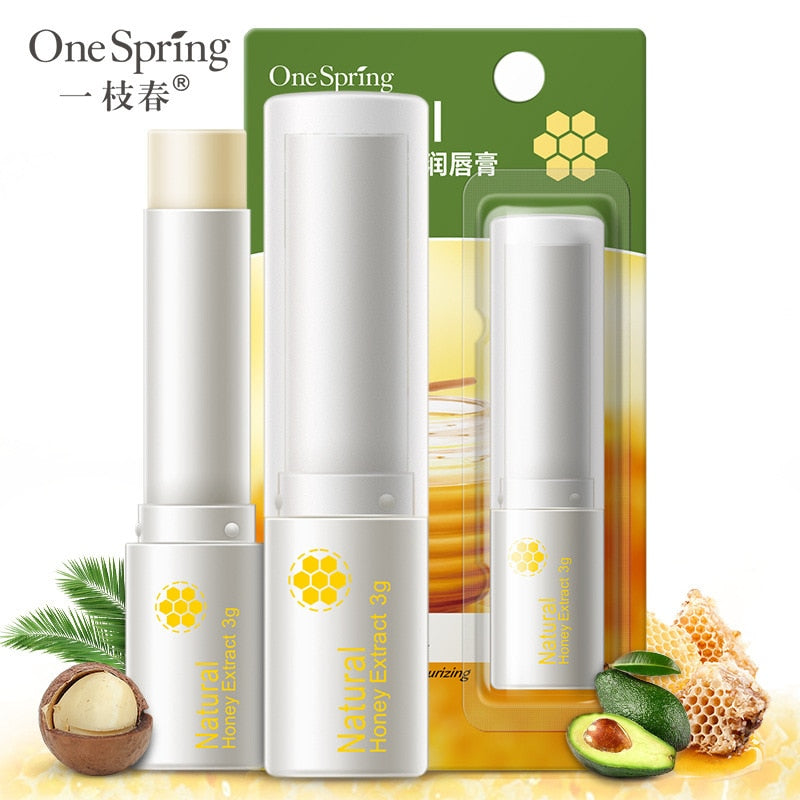 OneSpring Natural Aloe Honey lip Balm Moisturizing Colorless