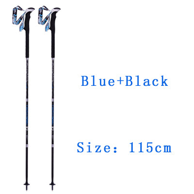 Ultralight Carbon Fiber Trekking Poles Collapsible W/ Sweat Absorbing EVA Grips