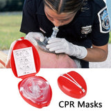 Professional First Aid CPR Breathing Mask With One-way Valve Tools #248705