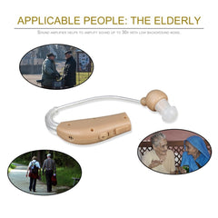 Rechargeable hearing aid device amplifier