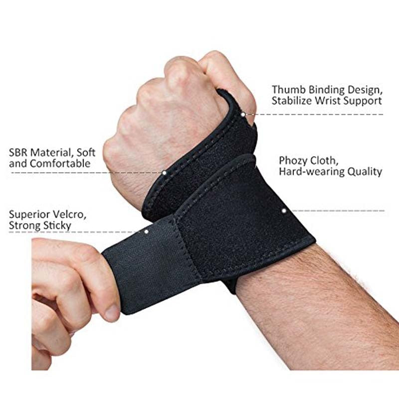 Reversible Sports Wrist Brace, Fitted Right / Left Thumb Stabilizer