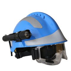 Safety Rescue Helmet With Headlamp and Protective Goggles