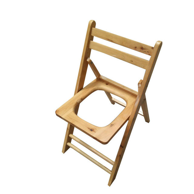 Solid Wood Potty Chair Commode Stool