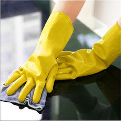 Hand Gloves Cleaning Waterproof Long Sleeve Rubber Dishwashing House