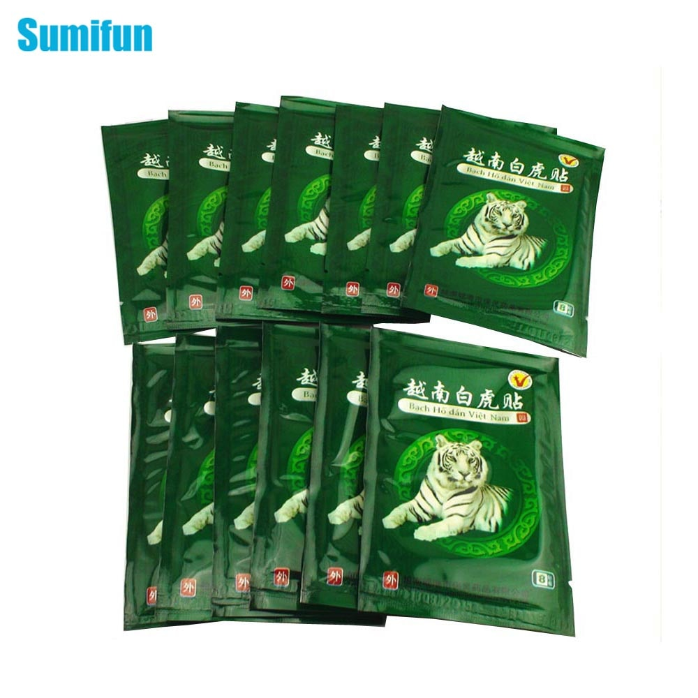 Sumifun 16Pcs Vietnam White Tiger Balm Pain Patch