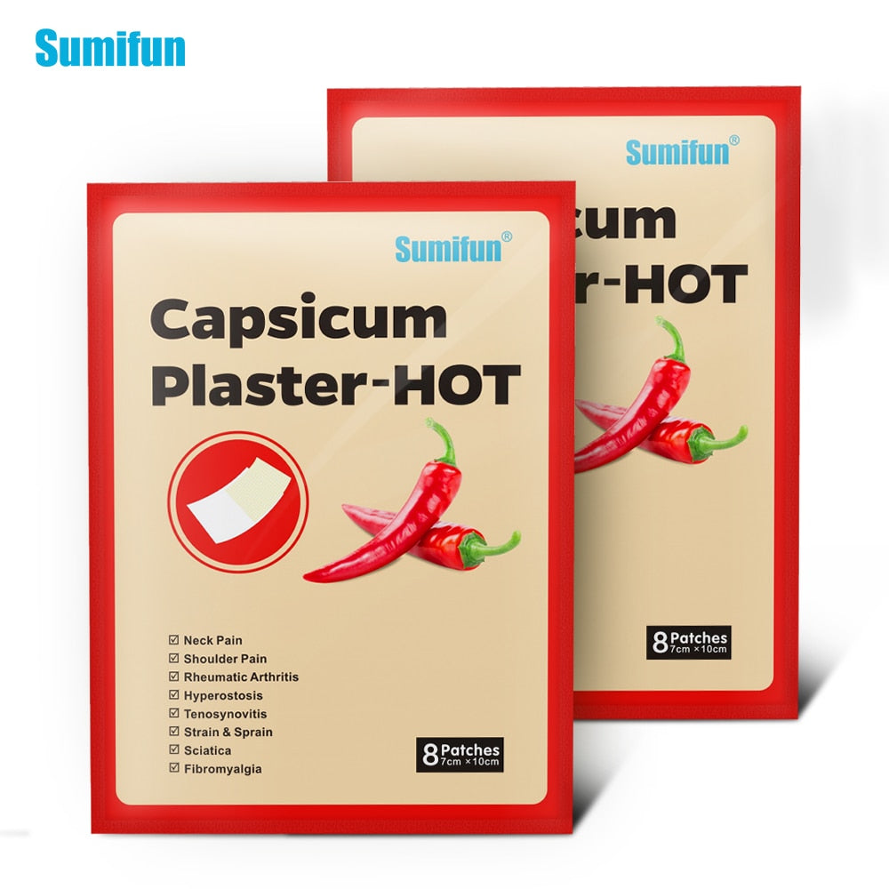 40Pcs Hot Capsicum Plaster Pain Relief Patch