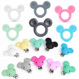 5pcs Mouse Baby Teether Silicone Beads Candy Color