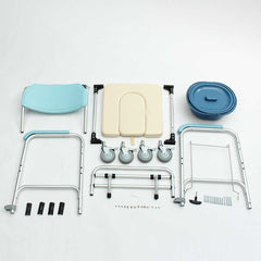 Elder Folding Chair 3-in-1 Commode Bedside Toilet & Shower Seat