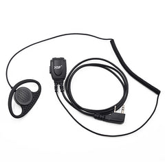 2-Pin Ear Hook Coil Wire Earpiece Headset for Walkie Talkie Transceiver