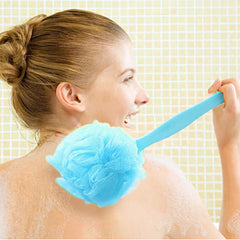 Large Super Soft Colorful Bath Ball Foam Shower Brush Long Handle