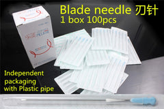 Medical with Plastic pipe sterile Blade needle acupoint