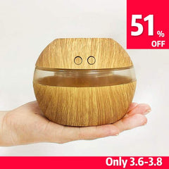 mini usb 300ml Air Humidifier Wood Grain Aroma Diffuser