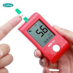 Blood glucose meter glucometer & 100 pcs test strips w/ free lancets needles