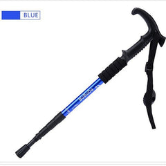 Adjustable 3-Sections Ultralight Aluminum Alloy Telescopic Walking Stick  Canes