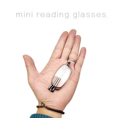 Reading glass folding stainless steel magnetic