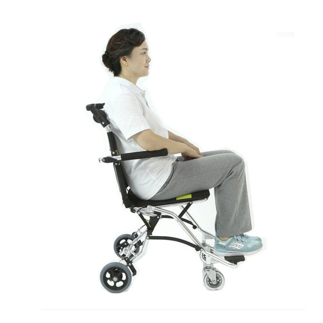 Wheelchair Folding Back Portable Lightweight