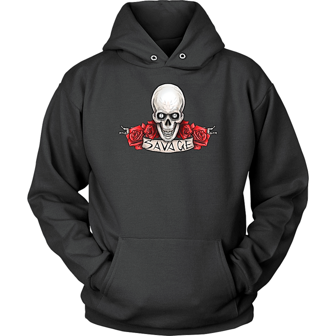Skull Hoodie Mens Savage Shirt - Black | IM Savage shirts
