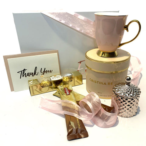 Christna Re Coffee Cup Coffee Lovers Gift Box Mothers Day Gifts 2021 Rose Gold Candle Personalised Mothers Day Gift