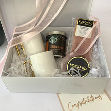 Load image into Gallery viewer, Personalised Designer Coffee Gift Box for Two (White) - PrettyLittleGiftBox