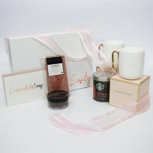 Personalised Designer Coffee Gift Box for Two (White)