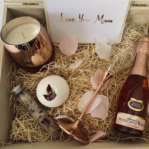 filled gift box ideal for mothers day
