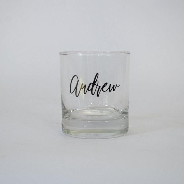 Personalised Spirit/Whiskey Glass For Him - Groom, Bestman, Groomsmen - PrettyLittleGiftBox