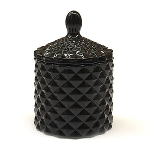 black geo mini candle