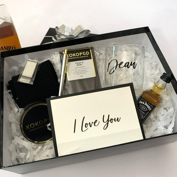 styled gift box for men