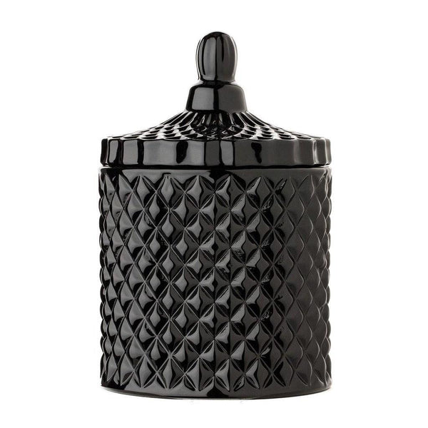 Geometric Black Gloss Candle 100% Soy Wax