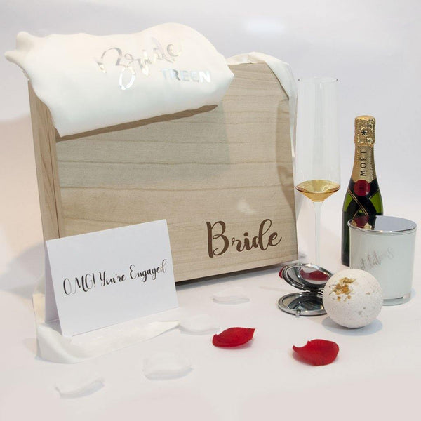 Personalised Bride to Be Pamper Hamper - PrettyLittleGiftBox