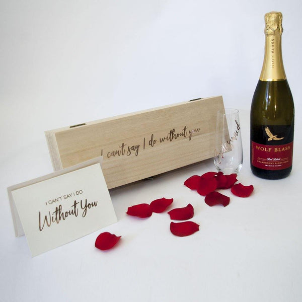 Will you Be My Bridesmaid? -  Luxury Timber Champagne Box - PrettyLittleGiftBox