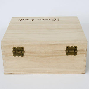 Flower Girl Timber Keepsake Box - (Empty)