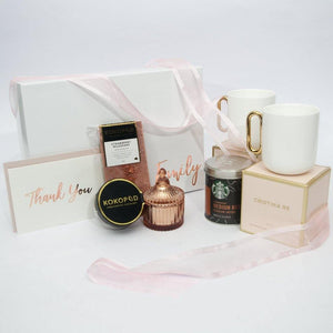 candle and coffee gift box