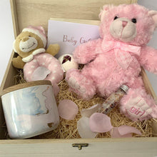 Load image into Gallery viewer, Newborn Baby Girl Luxury Hamper - With Timber Keep Sake Gift Box