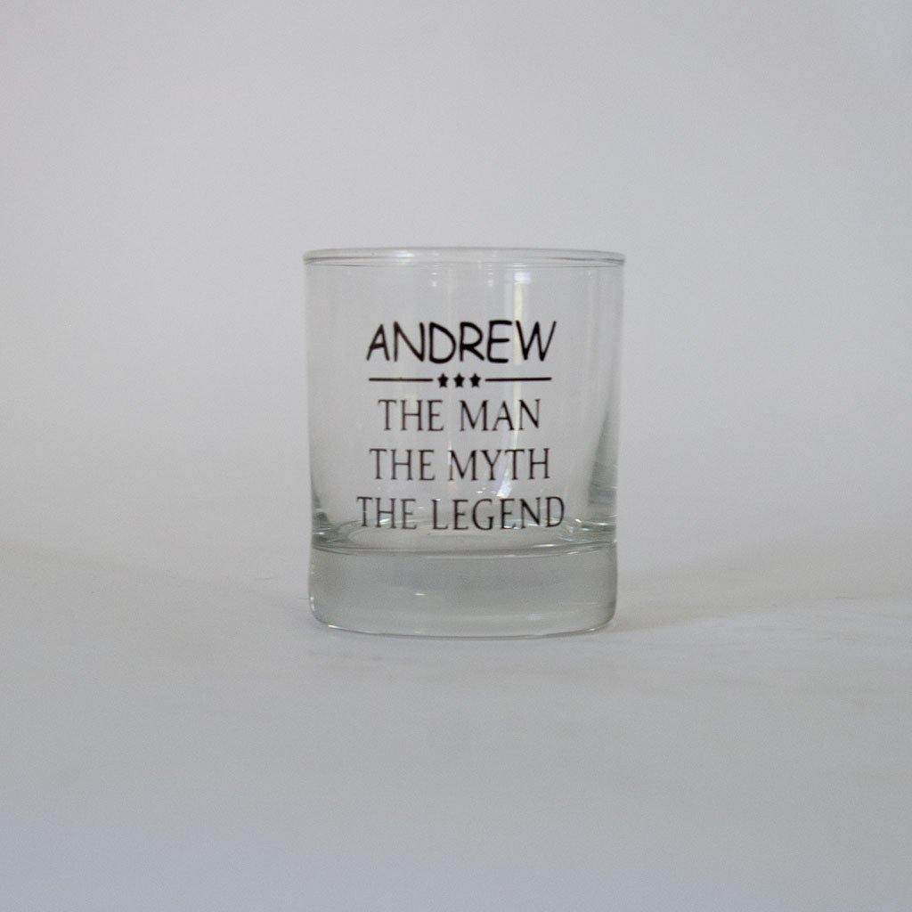 Personalised Spirit/Whiskey Glass For Him - Happy Birthday