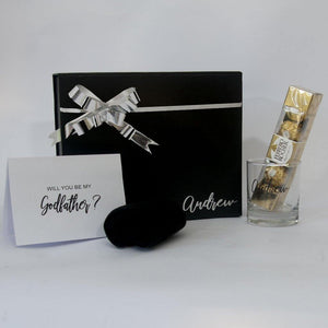 Custom Godfather Box with personalised glass & card