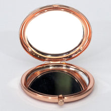 Load image into Gallery viewer, Rose Gold Metallic Compact Mirror