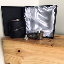 Load image into Gallery viewer, Stainless Steel Hip Flask - Groom