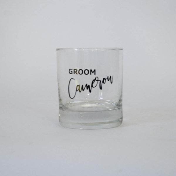 Personalised Spirit/Whiskey Glass For Him - Groom, Bestman, Groomsmen